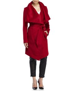 "Check out ""Kim Wrap Coat"" from Century 21"