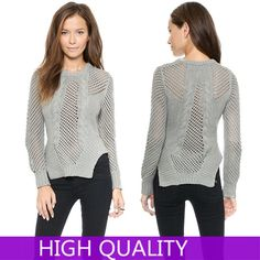 Korean Knitwear 2014 Fashion Autumn Casual Women Knitted Sweater Sexy Hollow Crochet Sweaters Ladies Asymmetrical Hem Pullovers-in Pullovers from Women's Clothing & Accessories on Aliexpress.com | Alibaba Group