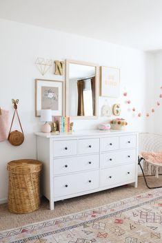 Big Girl Bedrooms, Little Girl Rooms, Modern Girls Rooms, Modern Teen Room, Girls Bedroom, Bedroom Ideas, Sister Room, Ikea Girls Room, Toddler Room Girls