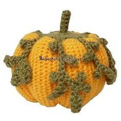 Autumn Vine Crochet Pumpkin - easy