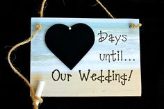 """Beach Wedding. Engagement gift Idea. Wedding Countdown - """"Days Until .. Our Wedding!"""" (Beach / Destination Wedding) Bridal Shower Gift by CountdownChalkboards on Etsy  PIN NOW - VIEW LATER!"""