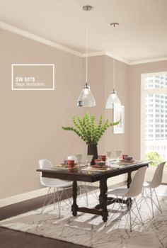 Interior Paint Colors For Living Room, Beige Living Rooms, Home Design Living Room, Paint Colors For Home, Living Room Colors, Design Salon, Küchen Design, Tinta Sherwin Williams, Apartment Painting