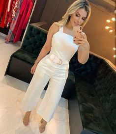 Casual Chic, Casual Wear, Casual Outfits, Cute Outfits, Girl Fashion, Fashion Dresses, Womens Fashion, Fashion Design, All White Party Outfits