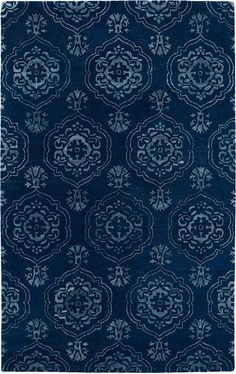 Divine DIV07-22 Navy Rug from the Botanical Rugs I collection at Modern Area Rugs