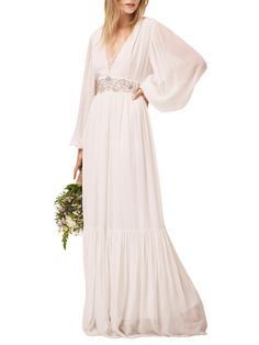 French Connection Cari Maxi Bridal Dress, Summer White at John Lewis & Partners
