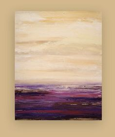 This is a one of a kind painting by acrylic artist Ora Birenbaum. I blended wonderful warm tones of camel, cream, and taupe, with rich plum Painting Inspiration, Art Inspo, Abstract Wall Art, Abstract Paintings, Art Plastique, Landscape Art, Love Art, Painting & Drawing, Art Drawings