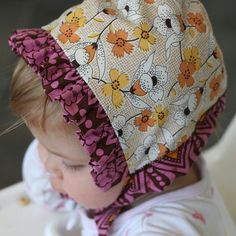 Same pattern as fleece hat; instructions a little different to make the hate reversible.  Reversible baby bonnet tutorial - adorable!!  I just pinned these for my business ;) thought you might like for the girls ?