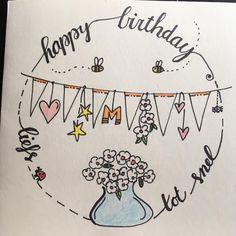 Verjaardag - handlettering - tekenen