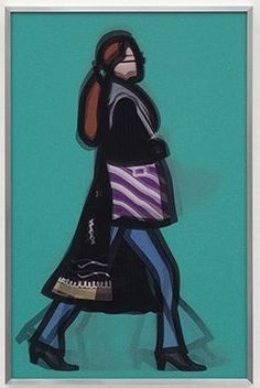 Julian Opie Musician, 2014  A set of five lenticular acrylics presented in aluminium frame specified by the artist // 83.7 x 54.7 cm // Edition of 50