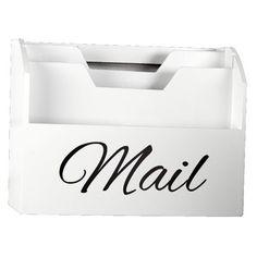 Cooper & Co Wood Mail Organiser White 140 x 225 cm