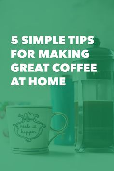 At first, making great coffee can either feel like a total mystery or an overwhelming chemestry lab. But fear not my friends, I promise it's not that complicated. Today I'm sharing 5 tips that made a huge difference in my at-home coffee making. In fact, even though I work at a coffee shop I still make coffee at home because I love it that much! 5 Simple Tips for Making Great Coffee at Home http://init4thelongrun.com/2016/09/29/5-simple-tips-making-great-coffee-home/