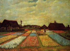 Vincent Van Gogh, Campo di tulipani, 1883