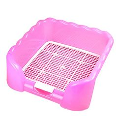 Xinlink New Indoor 5Kg Pet Dog Puppy Teddy Cat Fenced Potty Toilet Pee Trainning Pad Tray Pink *** Click image for more details.
