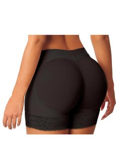 9a1e91237 Padded Lace Hem Booty Lifter Control Panties Butt Lift  Shaper Shapewear Sexy Lingeire