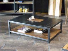 Création et Réalisation: MICHELI Design - Entreprise Artisanale  Fabriquée dans notre atelier de façon artisanale avec des matériaux robuste, cette table basse rectangle en  - 9337041