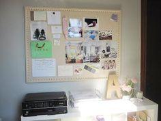 DIY Pinboard : DIY Nailhead Bulletin Board