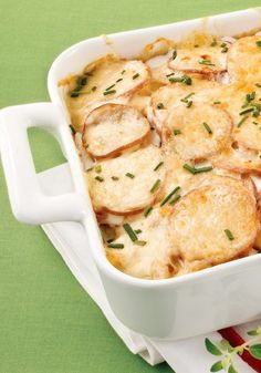 California Creamy Potatoes – This uber-cheesy bake recipe boasts creamy potato soup to boost the flavor factor in this crowd-pleasing side dish.