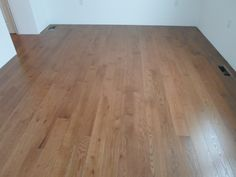 "This is 5"" Red Oak prefinished with a custom stain. This floor is in Kingsbury, NY. Done by Superior Floors."