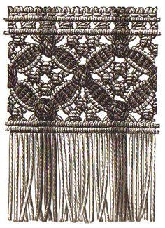 Franse mit Muster aus Rippenblättchen, Langetten- und Kettenmuschen