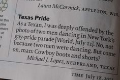 Texan is deeply offended by TIME publishing a pic of 2 guys dancing together...