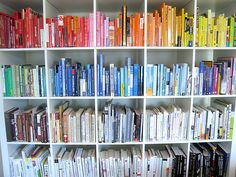 Colour coded books shelves - yes