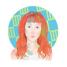 Hayley #8. Look: Mix between Now music video and Self Titled album cover. Hayley Williams, Paramore, orange hair, hairstyles, illustration, design
