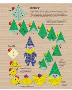Farsangi dekoráció készítése Gato Origami, Origami And Kirigami, Art For Kids, Crafts For Kids, Pre School, Diy Art, Paper Flowers, Activities, Holiday Decor