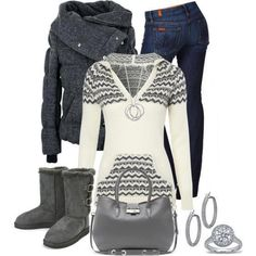 I would definitely switch out the shoes but I love the jacket!