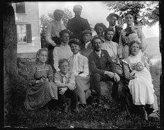 Family with Black Eyed Susans C. 1900