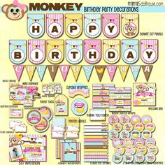 Monkey Party: Emma's Monkey Party-Activites - Mimi's Dollhouse http://mimisdollhouse.com/monkey-party-part-2/ #monkeypartyactivities #partygameideas #mimisdollhouse