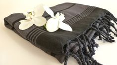 Organic Silk and Cotton Turkish Towel Peshtemal by TheAnatolian, $34.50