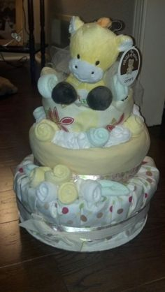 Diaper cake from work baby shower