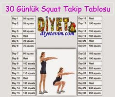 squat hareketi takvimi - Pin Tutorial and Ideas Pilates Workout, Exercise, Yoga Fitness, Health Fitness, Healthy Sport, Kindergarten First Day, Race Training, Lose Weight, Weight Loss