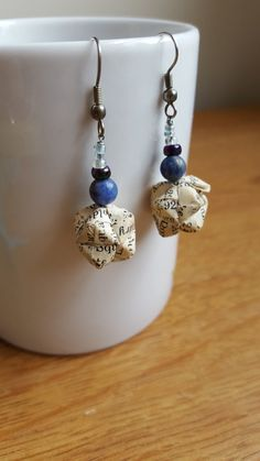 12-piece Handmade Modular Origami Earrings vintage by ModularMagic