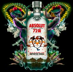 "creative advertising | ABSOLUT VODKA x GAO YU x CHEN MAN ""72 transformations"" china limited edition bottle released /// NeochaEDGE ///"