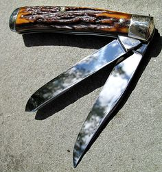 "Ultra Rare. 1940 Case Stag Trapper. 1st model. Early XX knife, tall ""S"" on shield. Dead on Original Mint condition, Sold. A surviver."
