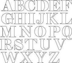 Digital Quilting Design Alphabet Block Letters by Crystal Smythe. Font Styles Alphabet, Pretty Fonts Alphabet, Handwriting Alphabet, Hand Lettering Alphabet, Doodle Lettering, Lettering Styles, Block Lettering, Lettering Design, Block Fonts