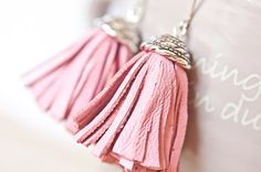 Tassel earrings...leather not traditional plant based fabric...but I included them anyhow since it is the fabric of a cow : )
