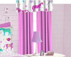 Pony Parade Valance - decor for girl's room - gifts under 20 dollars - Stocking Stuffer -  #stockingstuffer #giftideas #christmasgiftideas Christmas gift idea under $20