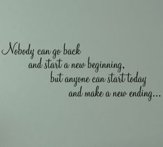 No One Can Go Back Wall Decals - Trading Phrases