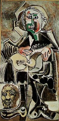 Pablo Picasso, The Guitarist, oil on canvas, Dallas Museum of Art, The Art Museum League Fund Pablo Picasso, Picasso Art, Picasso Paintings, Dallas Museums, Francis Picabia, Georges Braque, Music Artwork, Oil Painting Reproductions, Illustrations