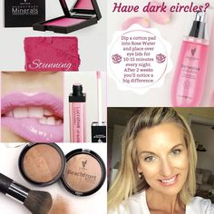 These are a few of my favourite things! Rosewater spray, lovable lipgloss, stunning blush, beachfront bronzer ~ Younique by Sandi