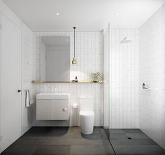 Elegant White Bathroom Ideas to Inspire Your Home White Bathroom Ideas - These great white shower rooms offer layout ideas for every person.White Bathroom Ideas - These great white shower rooms offer layout ideas for every person. Bathroom Renos, Basement Bathroom, Bathroom Flooring, Bathroom Interior, Bathroom Ideas, Bathroom Remodeling, Bathroom Cabinets, Bathroom Makeovers, Bathroom Inspo