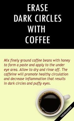 Erase your dark circles with coffee.