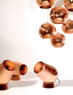 Tom Dixon copper light (http://www.cimmermann.co.uk/product/copper_shade/)