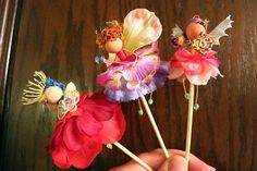 Items similar to Fairy Trio Cake or Cupcake Decor on Etsy Angel Flowers, Flower Fairies, Arts And Crafts, Diy Crafts, Pencil Toppers, Fairy Land, Fairy Dolls, Artsy, Miniatures