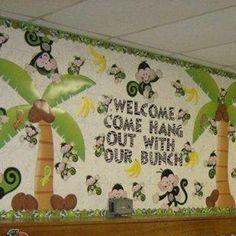 monkey bulletin board ideas for teachers - Google Search                                                                                                                                                      More