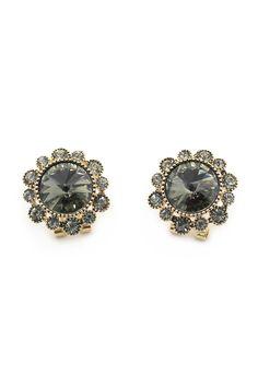 Noble crystal flowers earring