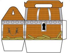 Treasure Chest Gable Box and other pirate printables