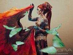 TOUCHING RED - Fashion & Faces Photography on plexiglass Cobra Art Company